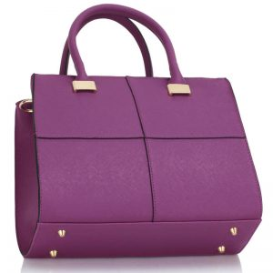 Purple Fashion Tote Handbag