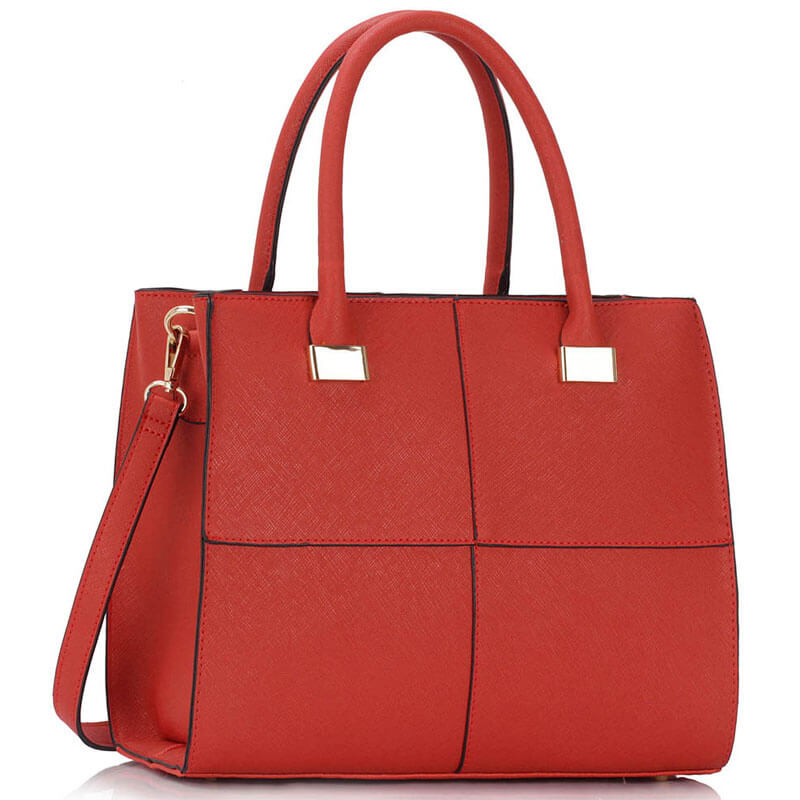 Red Fashion Tote Handbag
