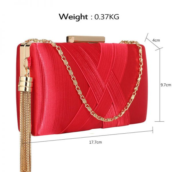 Red Tassel Clutch Bag – LSE00313–