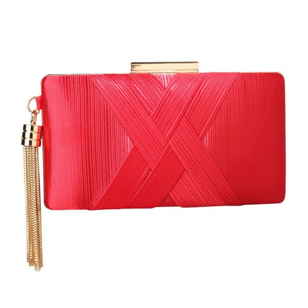 Red Tassel Clutch Bag – LSE00313_1_