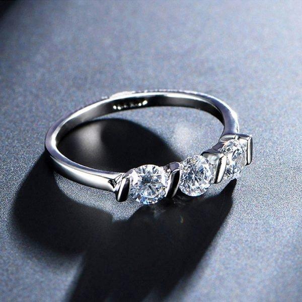 Silver Diamnate Ring AAA Zircon – AR10-3