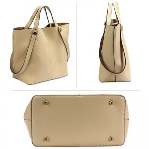 beige tote shoulder bag