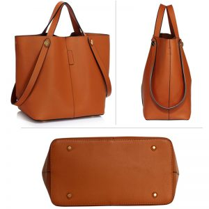 brown tote shoulder bag