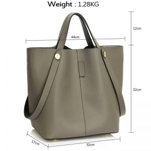 grey tote shoulder bag