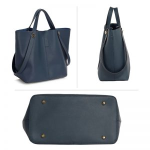 navy tote shoulder bag