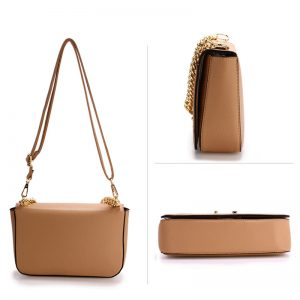 Nude Cross Body Shoulder Bag