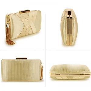 Nude Tassel Clutch Bag