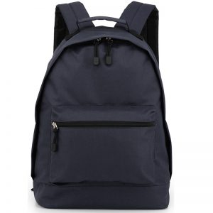 Navy Faux Leather Backpack