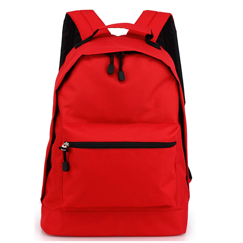 Red Faux Leather Backpack