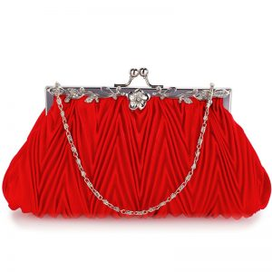 Red Crystal Evening Clutch Bag