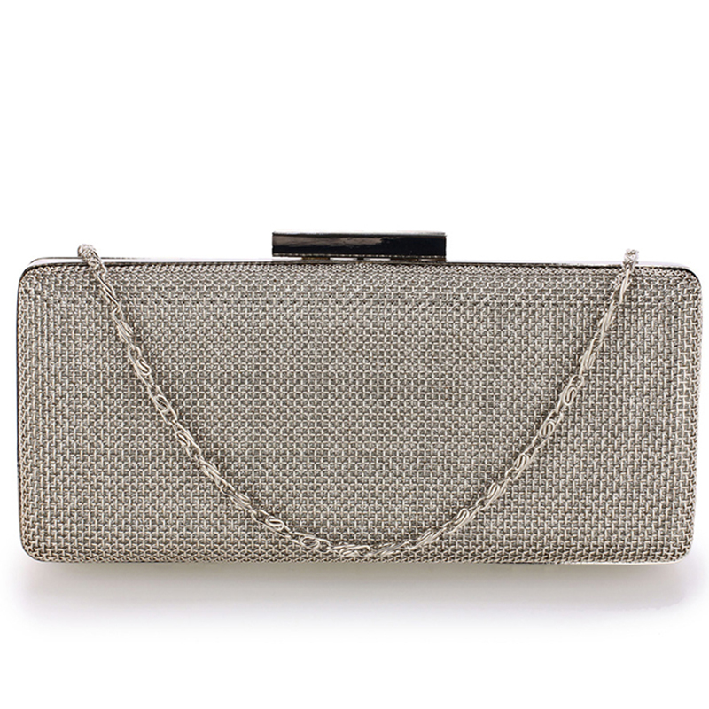Silver Metal Mesh Clutch Bag