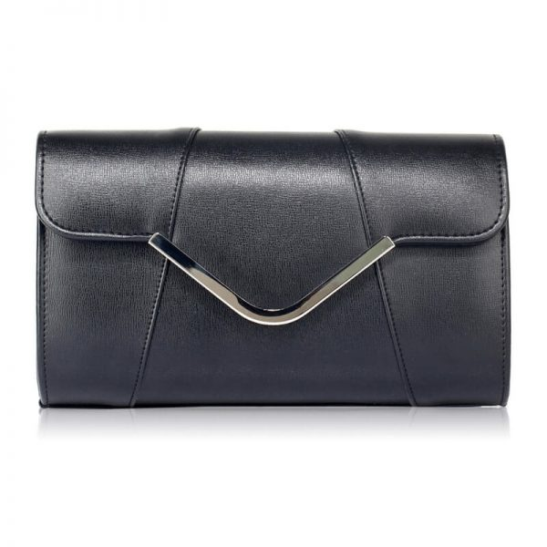 black Flap Clutch Purse – LSE00329A_1_