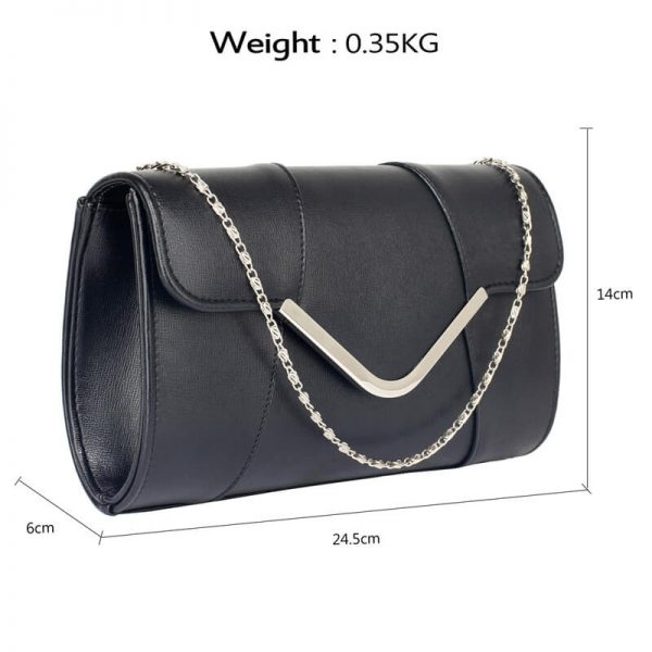black Flap Clutch Purse – LSE00329A_2_