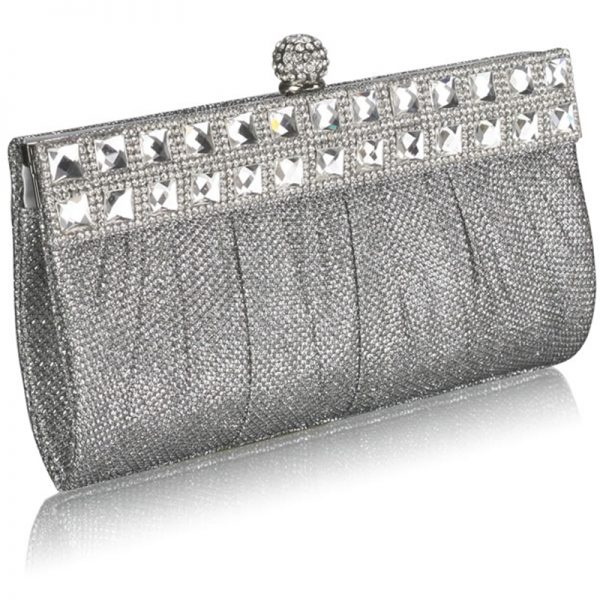 lse0045-silver-ruched-satin-clutch-with-crystal-decoration-2