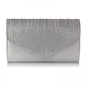 Ivory Diamante Design Evening Clutch Bag