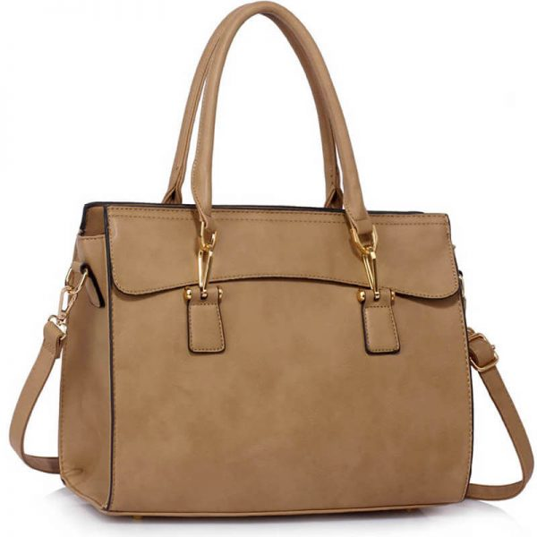 taupe Faux Leather Handbag for Women – LS00342(1)