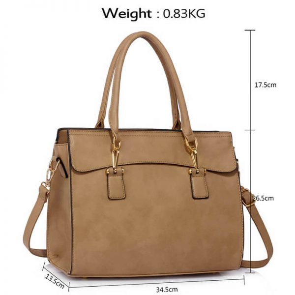 taupe Faux Leather Handbag for Women – LS00342(4)