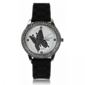 Black Butterfly Diamante Watch 1