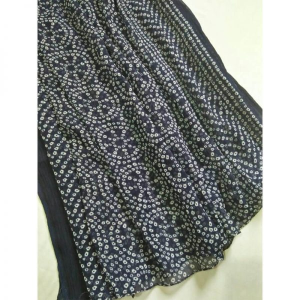 ZD19 -Navy Blue Chiffon Dupatta Large Soft 1