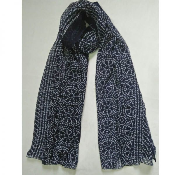 ZD19 Navy Blue Chiffon Dupatta Large Soft