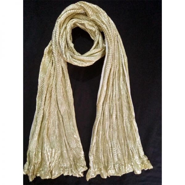 ZD32 Golden Crush Dupatta Cotton Shinny 1