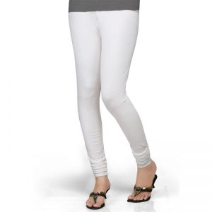 White Stretchable Leggings Lycra Tights