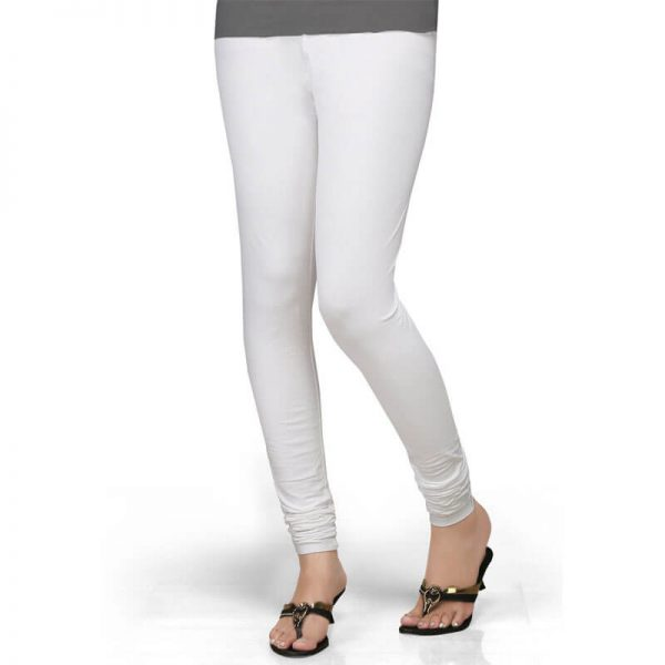 ZL01 White Stretchable Leggings Lycra Tights –
