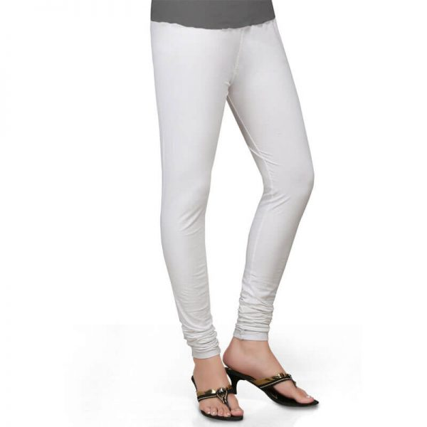ZL01 White Stretchable Leggings Lycra Tights