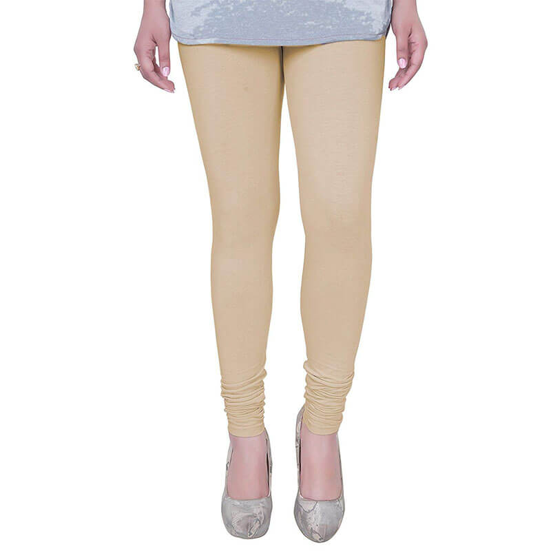 Beige Stretchable Leggings Lycra Tights