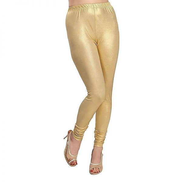 9a6f6b3848dc6 Golden Stretchable Ladies Leggings Lycra Tights Free Size