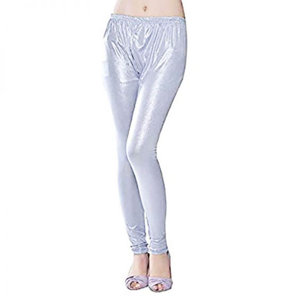 ZL05 Silver Stretchable Leggings Lycra Tights