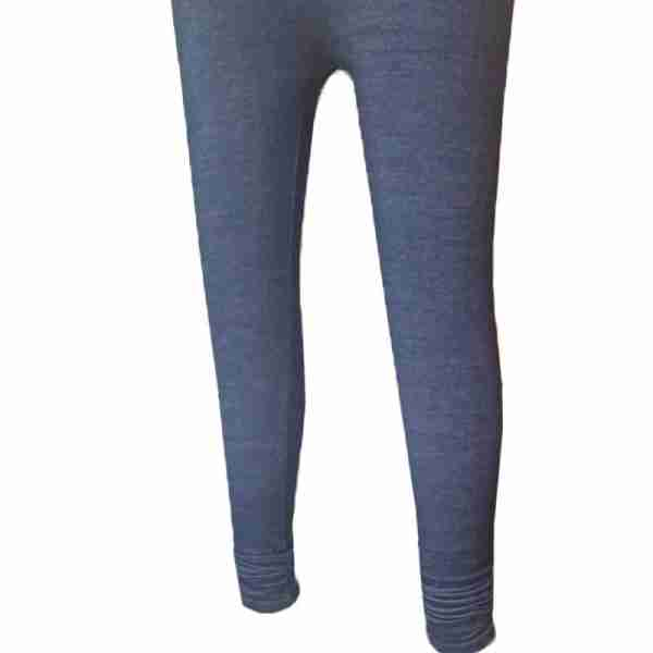 ZL08– Navy Denim Stretchable Ladies Leggings Tights