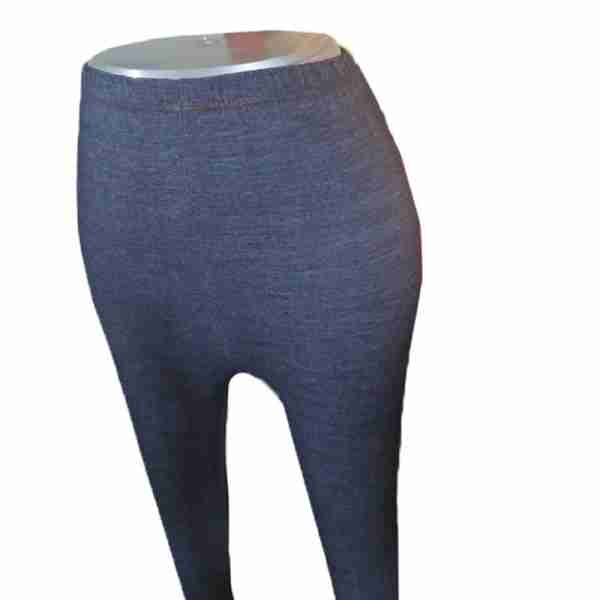 ZL08— Navy Denim Stretchable Ladies Leggings Tights