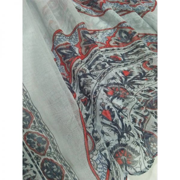 ZSC03 Floral Multi Cotton Lawn Scarf Stole Large —
