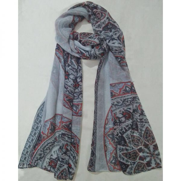 ZSC03 Floral Multi Cotton Lawn Scarf Stole Large1
