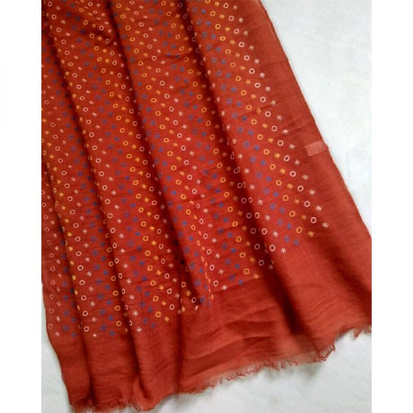 ZSC17 Red Lawn Scarf Stole Large –