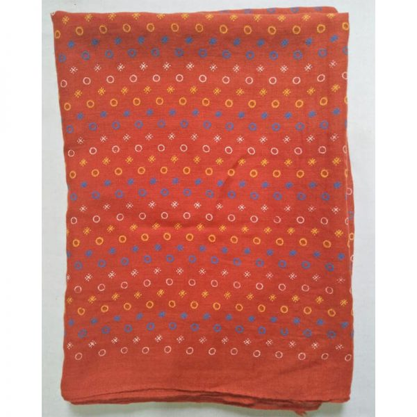 ZSC17 Red Lawn Scarf Stole Large —