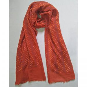 Red Lawn Scarf Stole Large
