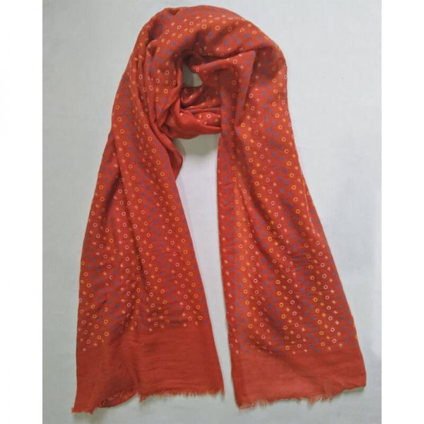 ZSC17 Red Lawn Scarf Stole Large