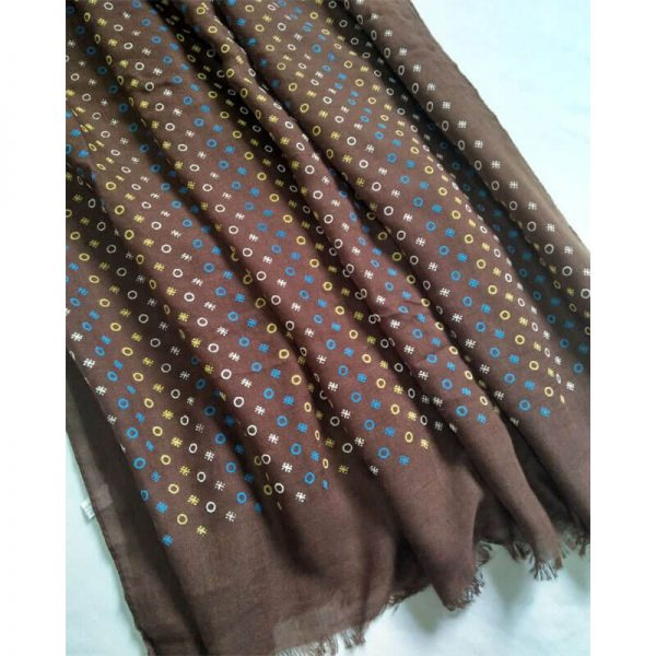 ZSC20 -Brown Lawn Scarf Stole Large-