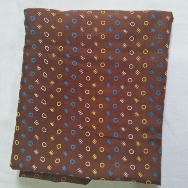 ZSC20 Brown Lawn Scarf Stole Large