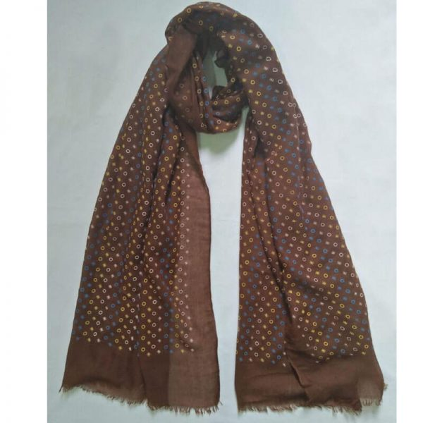 ZSC20 – Brown Lawn Scarf Stole Large