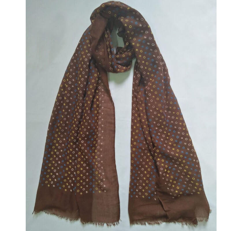 Brown Lawn Scarf Stole Large
