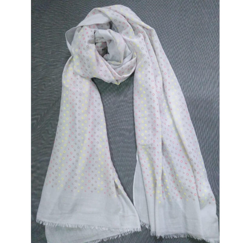 Grey Lawn Scarf Stole Large
