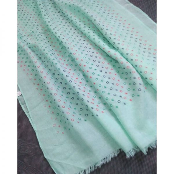 ZSC23- Mint Lawn Scarf Stole Large