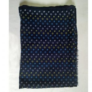 Navy Lawn Scarf Stole Large