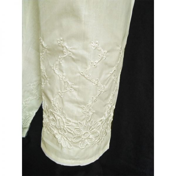 1 Embroided Off-White Trouser Free Size