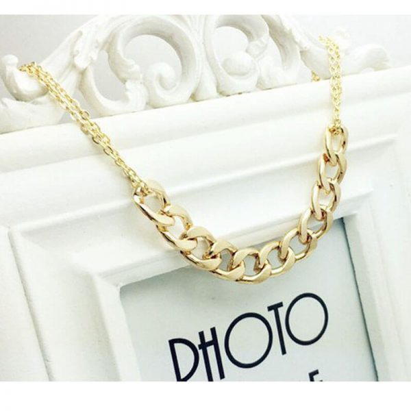 1 Gold Metal Trendy Necklace For Her