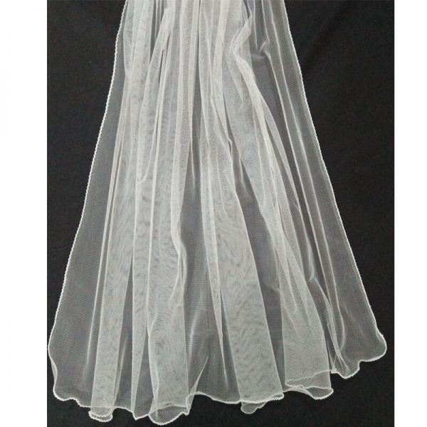 3 Net White Large Dupatta Soft With Piko On all 4 Sides