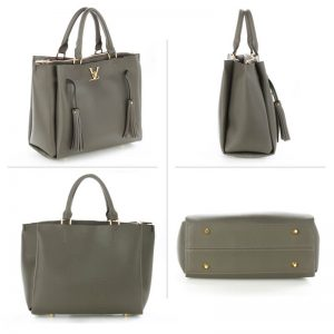 GREY_Tassel Shoulder Handbag